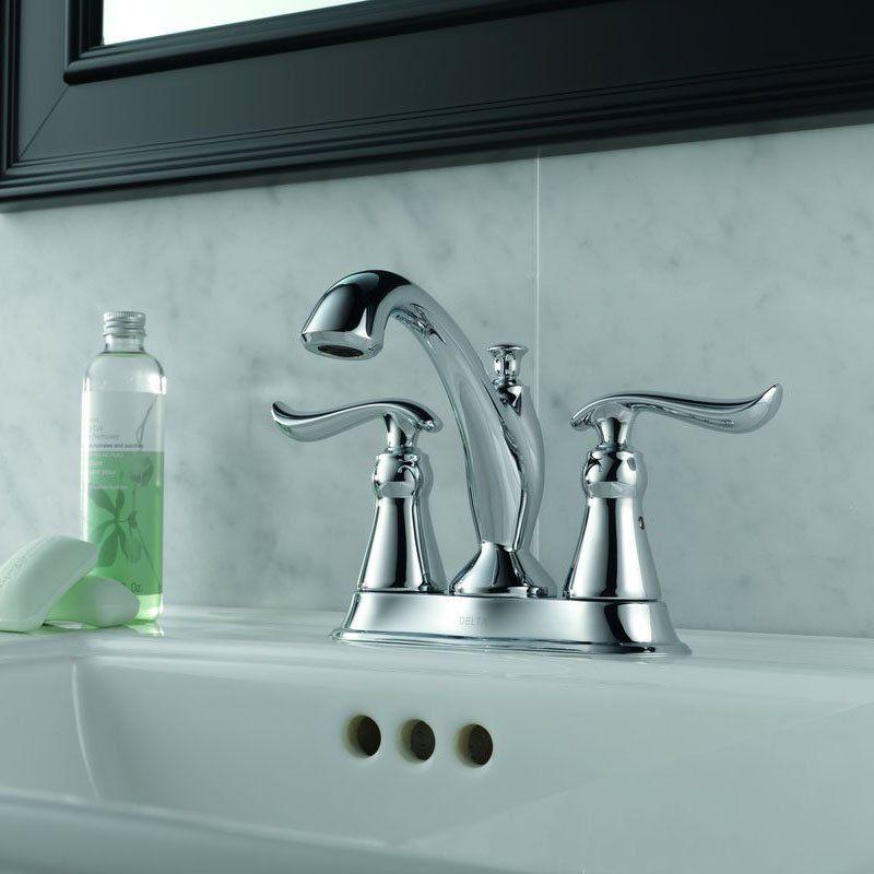 Delta Linden In Centerset High Arc Bathroom Faucet With - Delta linden bathroom faucet for bathroom decor ideas