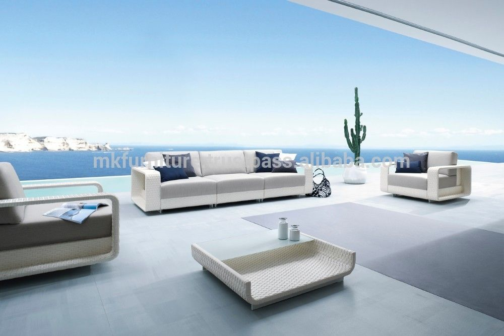 New Modern Luxury Garden Sofa Set Furniture Poly Rattan Sofa Set Fu With Images Stylish Outdoor Furniture White Outdoor Furniture Outdoor Furniture Collections