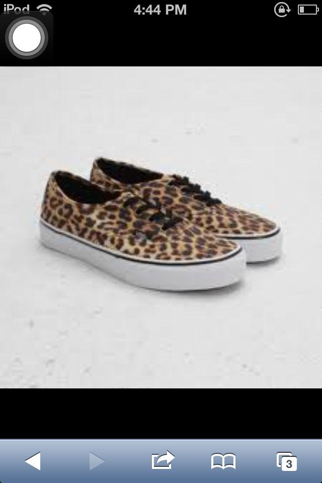 Cheetah print vans.