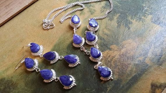 Check out this item in my Etsy shop https://www.etsy.com/listing/233670412/sapphire-necklace-choker-gemstone