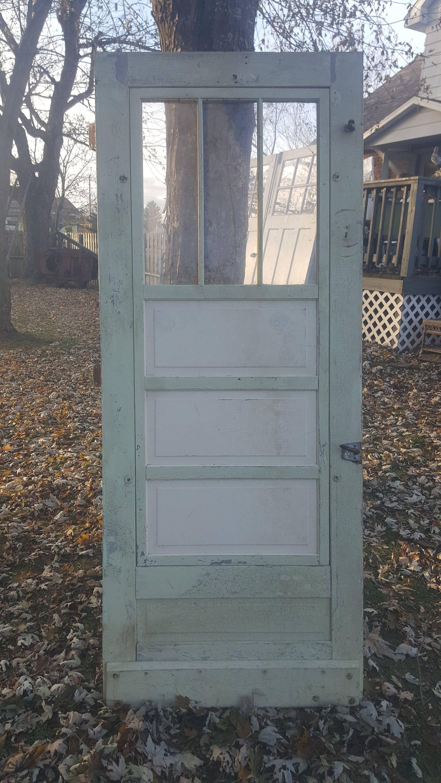 Vintage Old Wood Door Screen Door Building Supply Architectural