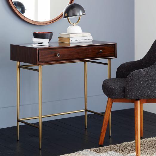 Heston Mid Century Mini Desk West Elm