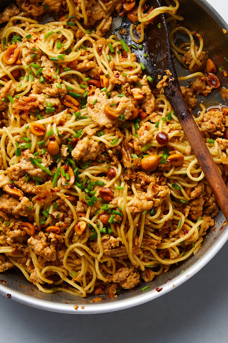 Spicy Sesame Noodles With Chicken And Peanuts Recipe Recipes