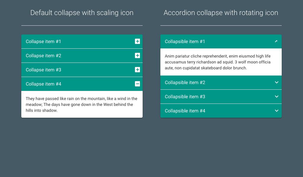 Material Design Bootstrap Accordion  Material Design Web