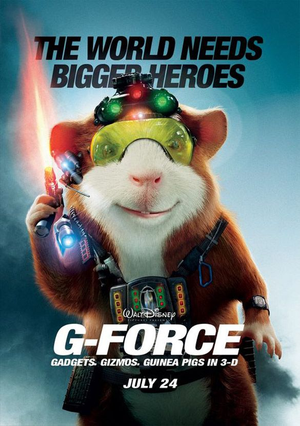 Inspirational Showcase Of Three Dimensional 3d Movie Posters Spyrestudios Force Movie Full Movies G Force