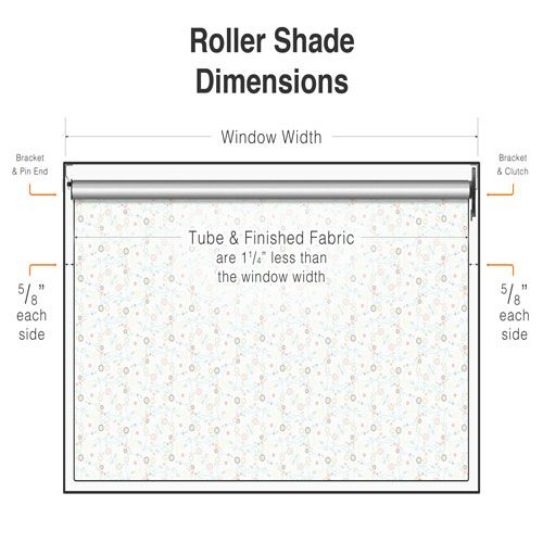Roller Shade Dimensions Graphic Blind Repair Diagrams