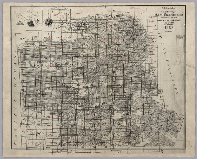 David Rumsey Historical Map Collection San Francisco Aerial - San francisco map puzzle