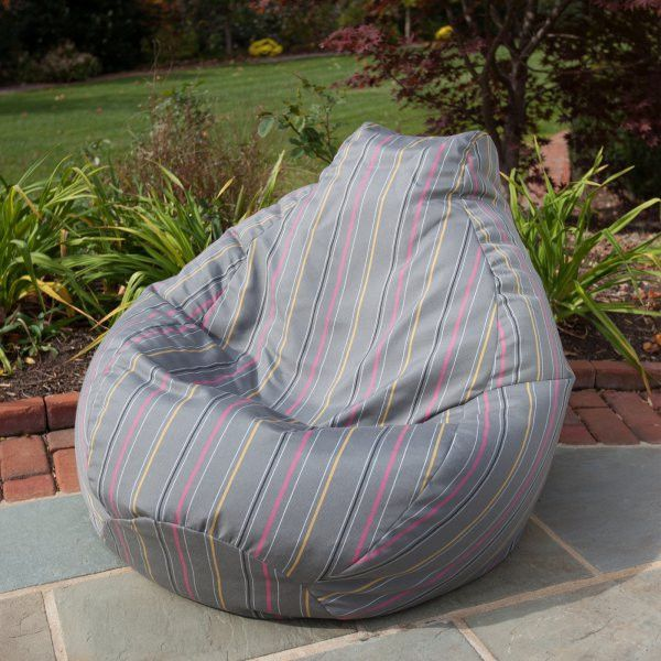 "Outdoor/Indoor Weather Resistant Sunbrella Bean Bag (Timeline Caravan) (30""H x 34""W x 36""D)"
