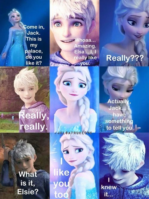 pindaelyn newman on geeky  jack frost and elsa jack