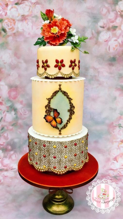 Moroccan wedding cake by Sweet Surprizes | Wedding Cakes | Pinterest ...