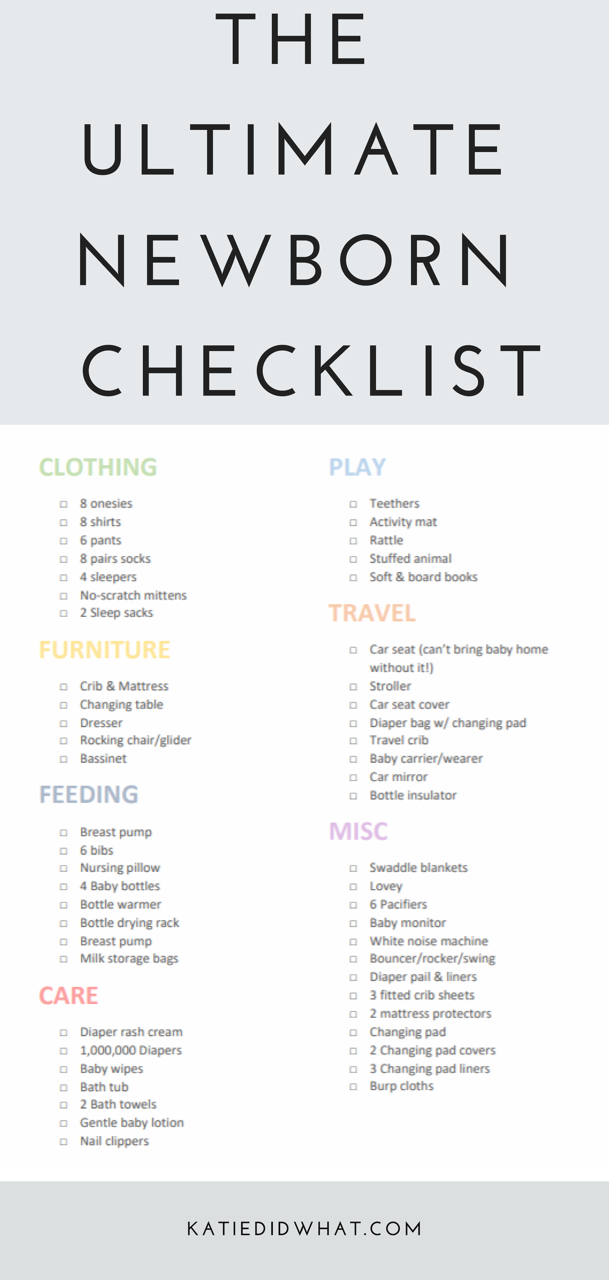 Calling All Moms Get The Must Have Newborn Baby Tips In This Free Downloadable Checklist Katiedidwhat Mo Newborn Checklist Newborn Baby Tips Baby Care Tips