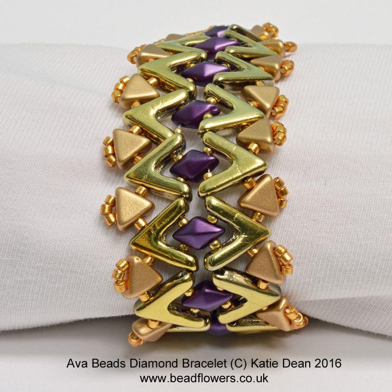 Beaded Diamond: Ava Beads Bracelet Pattern: Diamonds