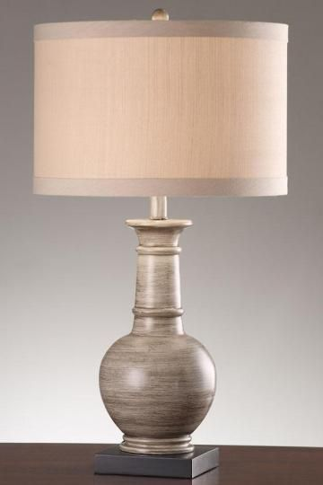 Nia Table Lamp Would Be A Great Lamp For Downstairs To Pull Some Of That Gray Wood Finish From Those Floating Shelves We Picked Lamp Table Lamp Trending Decor