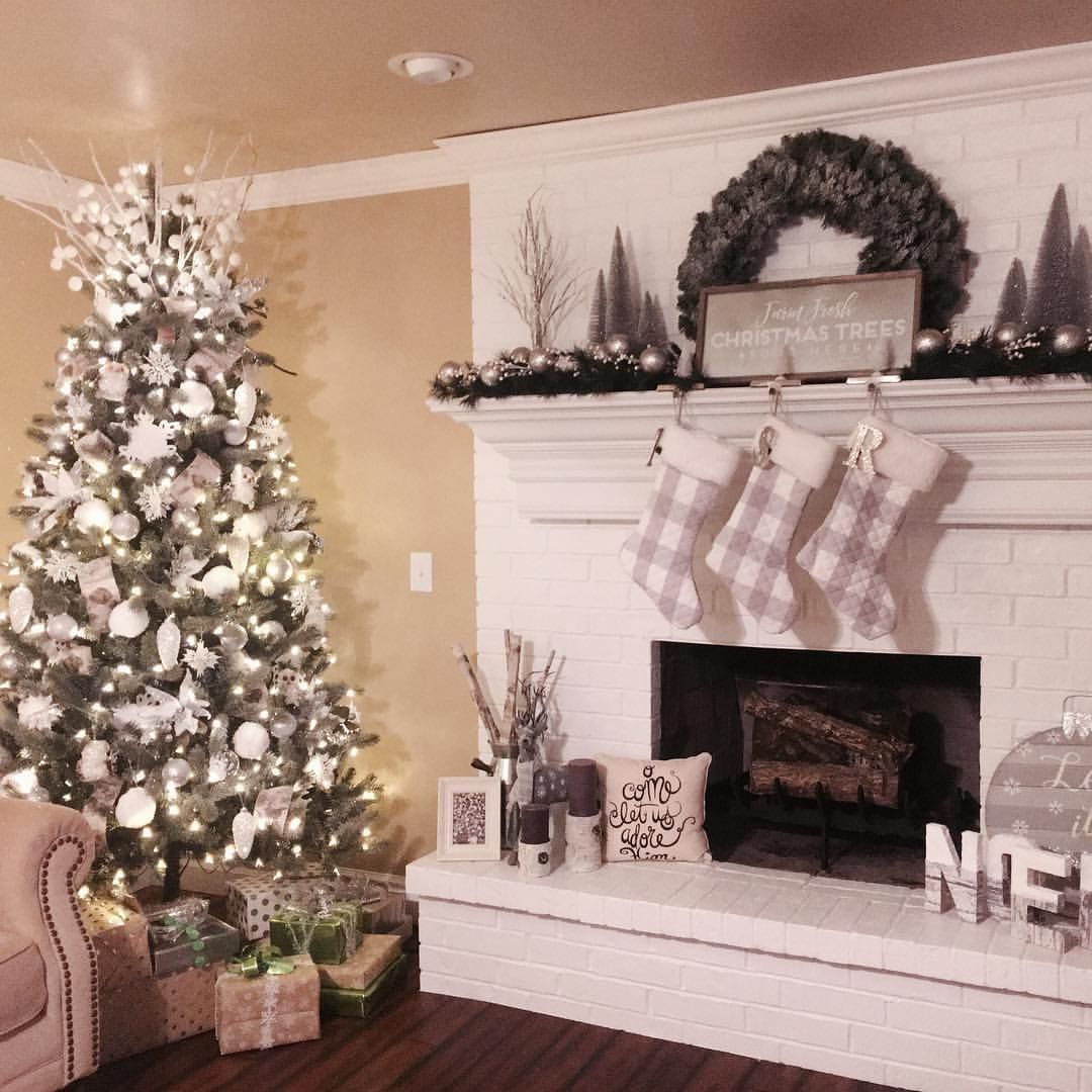 Christmas View Decoration 2020 Love my living room Christmas view . . . . . . #christmas