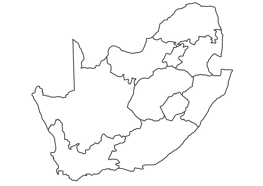Outline Map Of South Africa | South africa map, Africa map, Africa outline