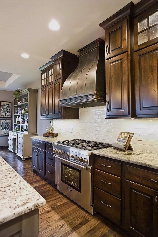 33 How To Pair Kitchen Backsplash With Dark Cabinets 2 Kitchendecorpad Dark Wood Kitchens Refacing Kitchen Cabinets Backsplash With Dark Cabinets