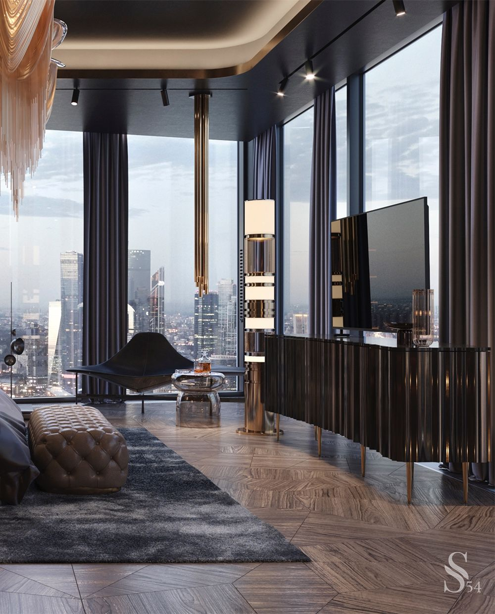 Luxury city view apartment in 2020 Luxurious bedrooms