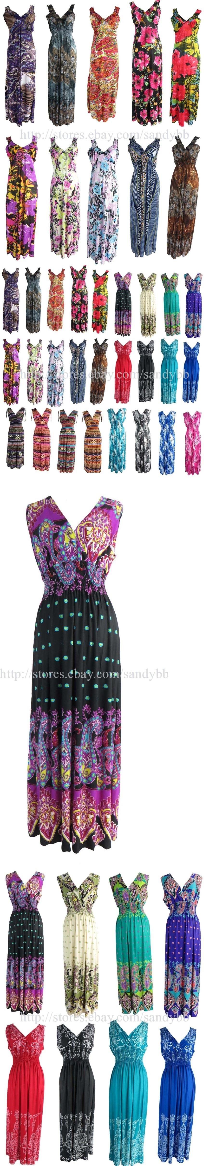 Dresses 50986: $7.5 P Wholesale Lot Of 25 Long Dress Maxi Bohemian Beach Dress -> BUY IT NOW ONLY: $187.5 on eBay!