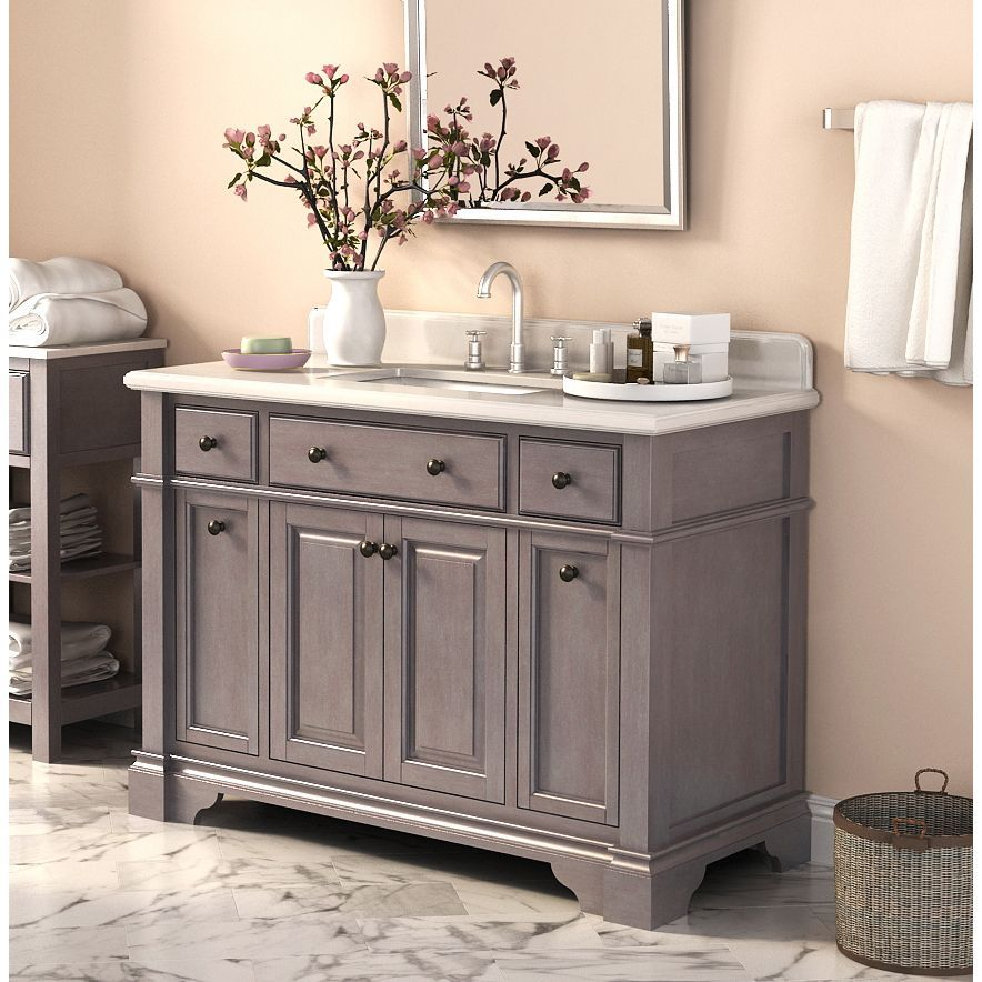 Shaker Style Bathroom Vanity Cabinet Dimensions 48 Wide 21 Deep