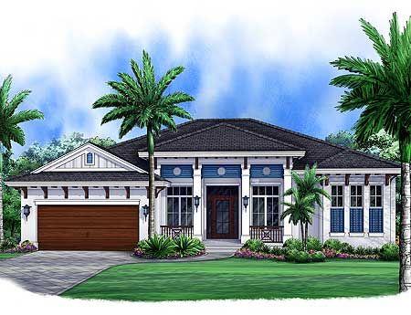 Plan 66318we 3 Bed West Indies House Plan Coastal House Plans Florida House Plans Courtyard House Plans