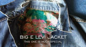 """Big E Levi Jacket Lined with Silk from Mick Jagger's Wedding Shirt!!! on Bluegoldblues""   http://www.denimfuture.com/read-journal/big-e-levi-jacket-lined-with-silk-from-mick-jagger-s-wedding-shirt"