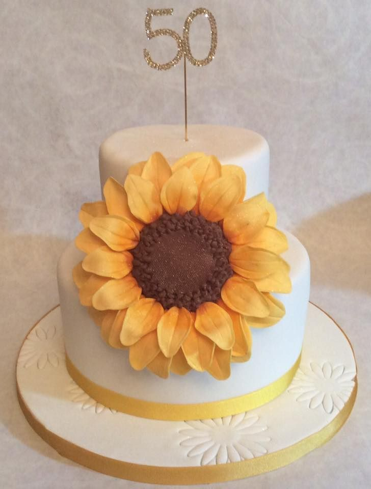 sunflower cake for surprise 50th birthday …   Sunflower ...