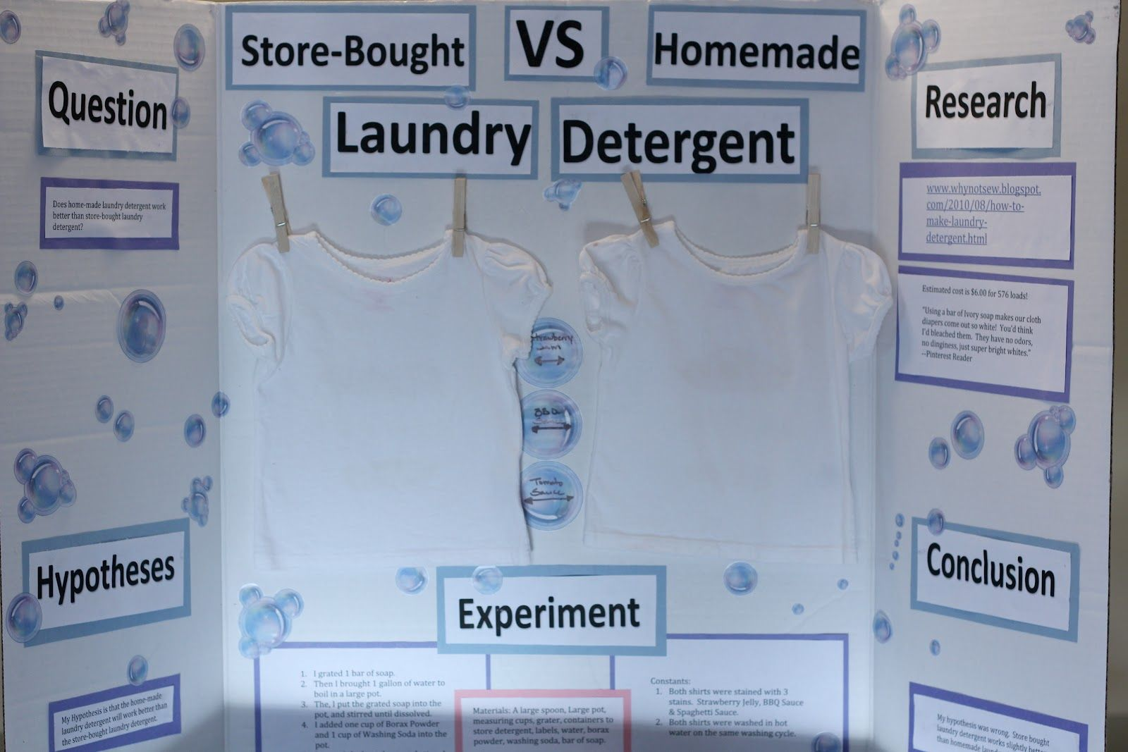 My Daughter S Homemade Laundry Detergent Science Project Science