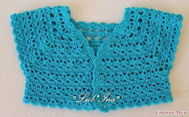 Punto muy fácil para aplicar a boleros en crochet   Ver modelos ...