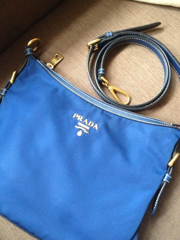 PRADA NYLON SLING BAG BT0706 NAVY BLUE / BALTICO MADE IN ITALY ...