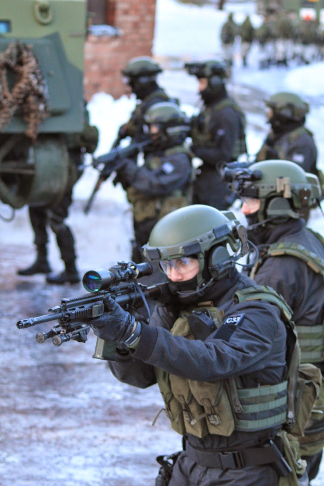 Finnish Special Forces with new Helmet System 2020