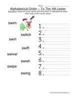 Alphabetical Order Worksheet - To The Fourth Letter | Have ...