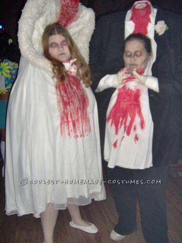Thrift Store Headless Bride and Groom Couple Costume Costumes - teenage couple halloween costume ideas