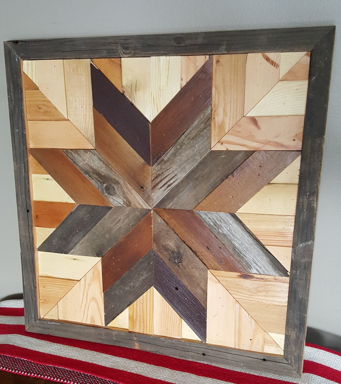 Barn Wood Art Ideas Barn Quilt Dark Star Made With Reclaimed Naturally