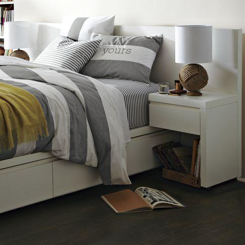 Storage Bed Nightstand - White | west elm