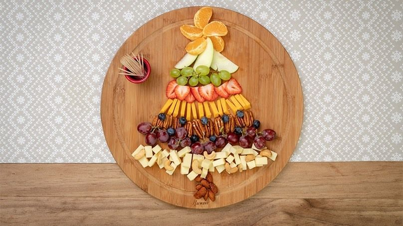 Fruit and Cheese Platter Christmas Tree Recipe