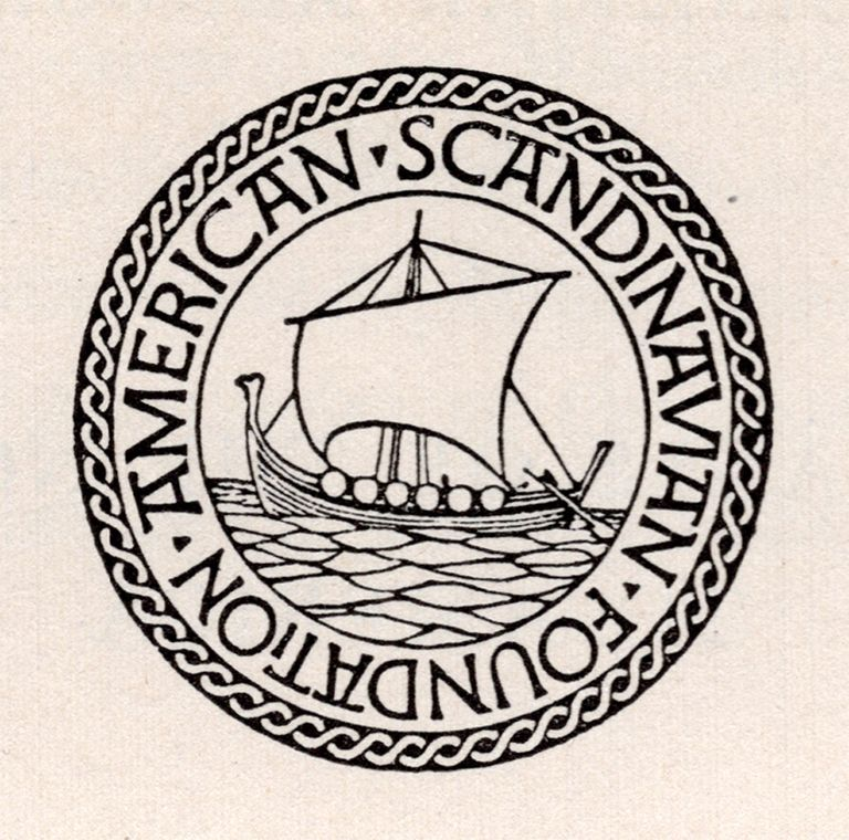 Seal For American Scandinavian Foundation 1914 Design By W A Dwiggins Unitarian Scandinavian Lettering