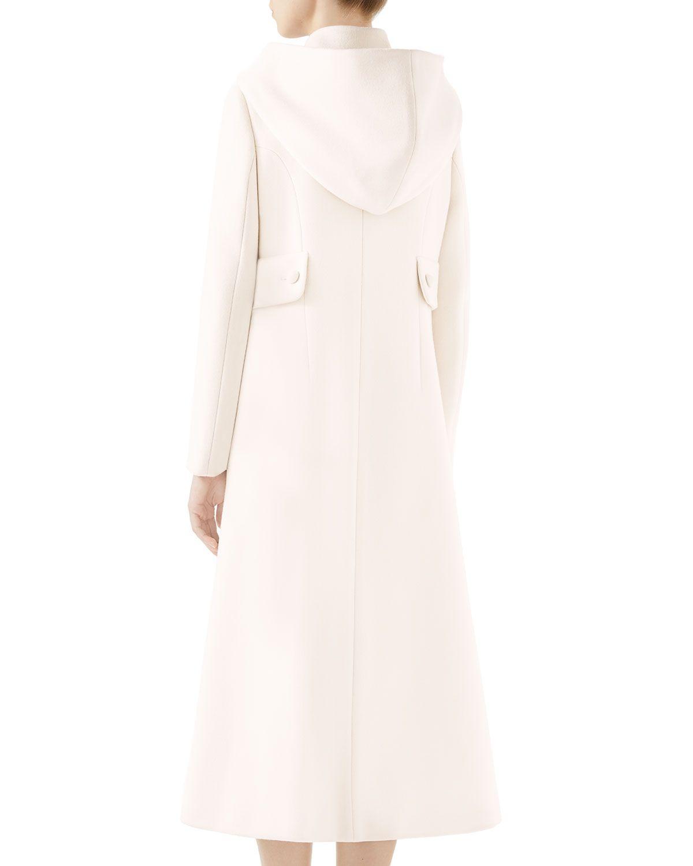 3be23ff643ae5 Gucci Gardenia Long Hooded Wool Coat