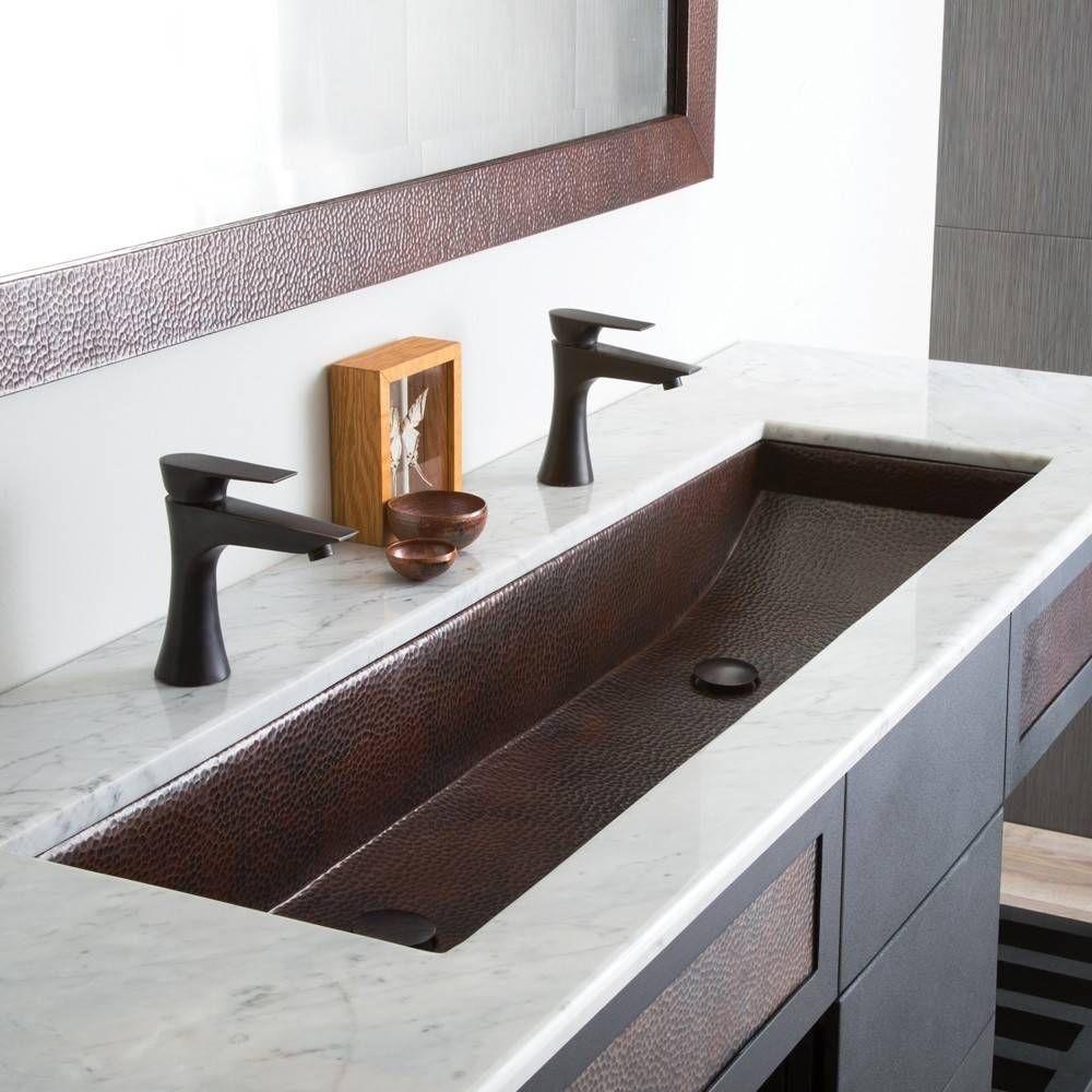 48 Inch Trough Bath Sink In 2020 Large Bathroom Sink Trough