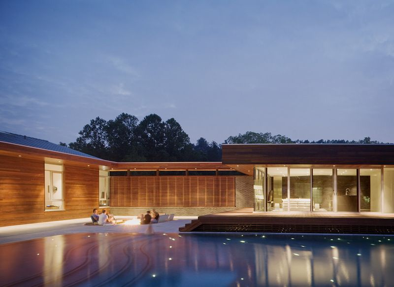 Pool… contemporary pool by Hufft Projects