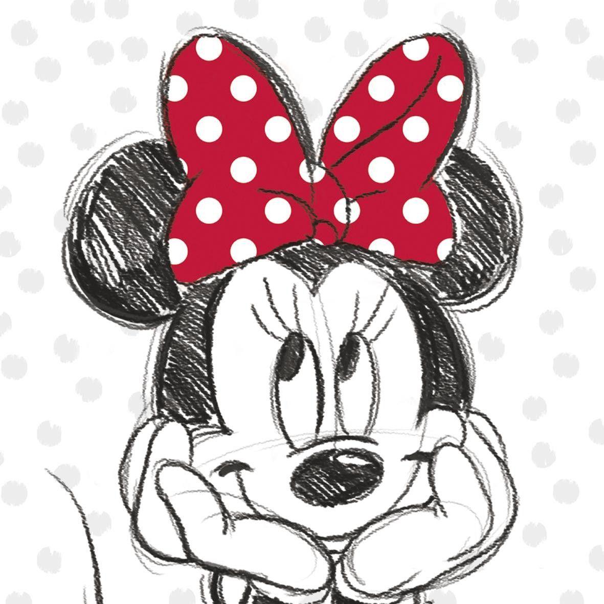 Keilrahmenbild Disney Ca 35x35cm Minnie Mouse Mickey