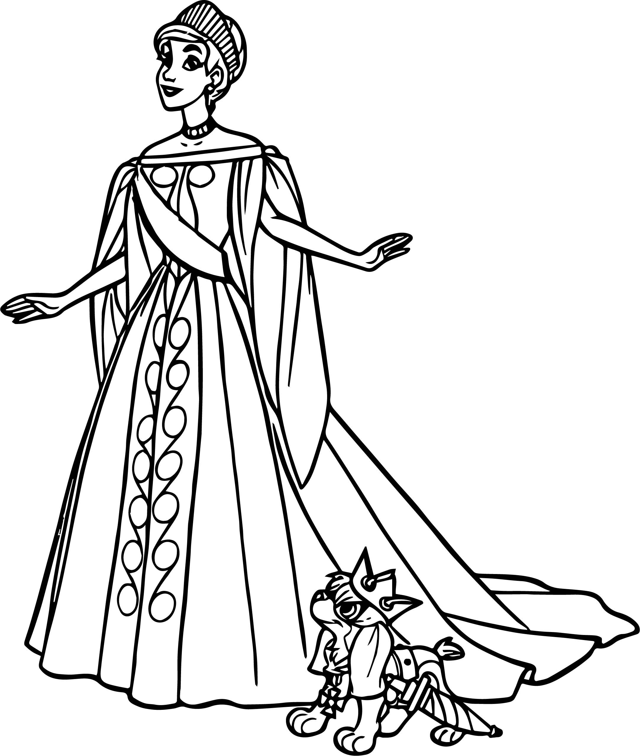 awesome Anastasia In White Dress Coloring Page  Disney coloring