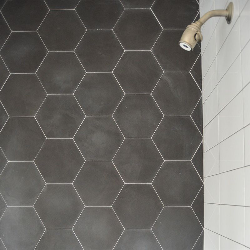 barcela honed hexagon nero cement tiles tl90838 white ice bright