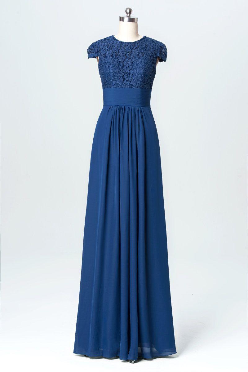 Model b03078 long sleeve bridesmaid dress cheap modest