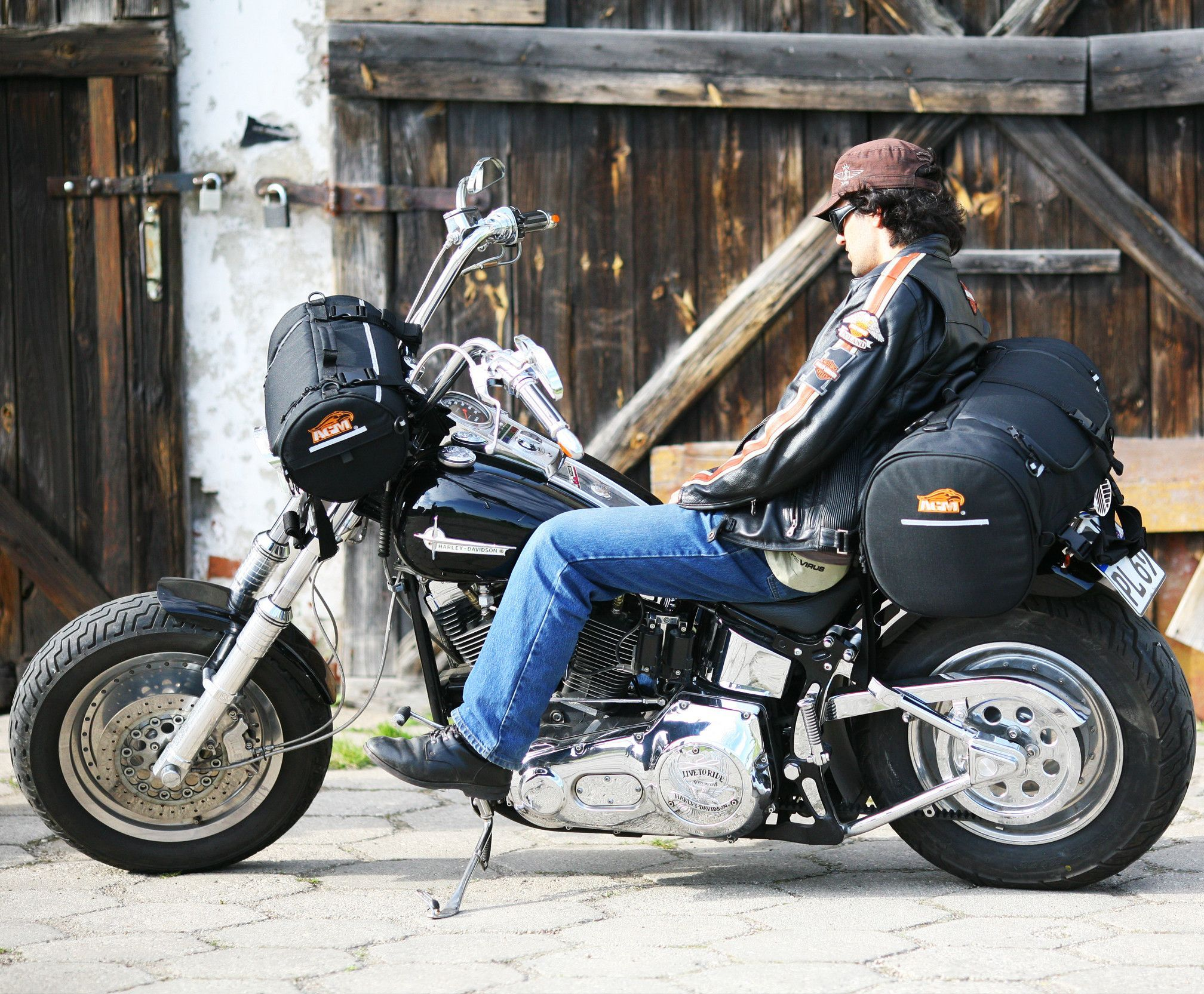 Rolly 3 The Anchor Weather Proof Motorcycle Bag Agm Med Bilder