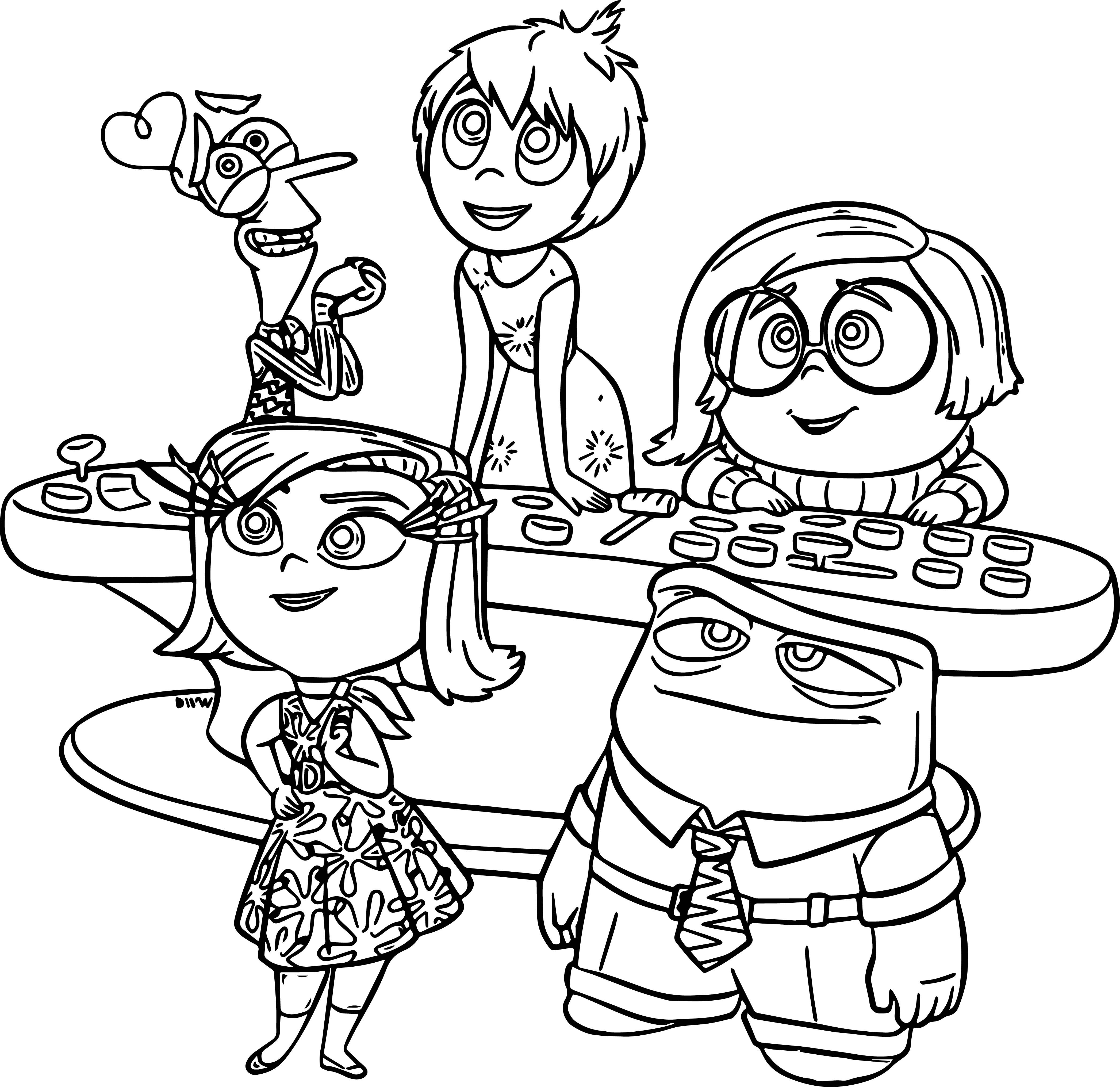 Disney Pixar Inside Out Coloring Page  Inside out coloring pages