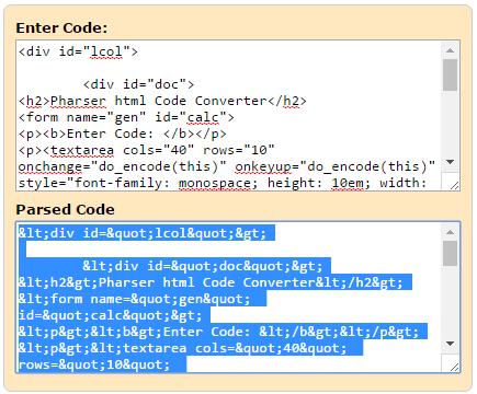 Html To Xml Parser Code Converter Html Parser Generator Html