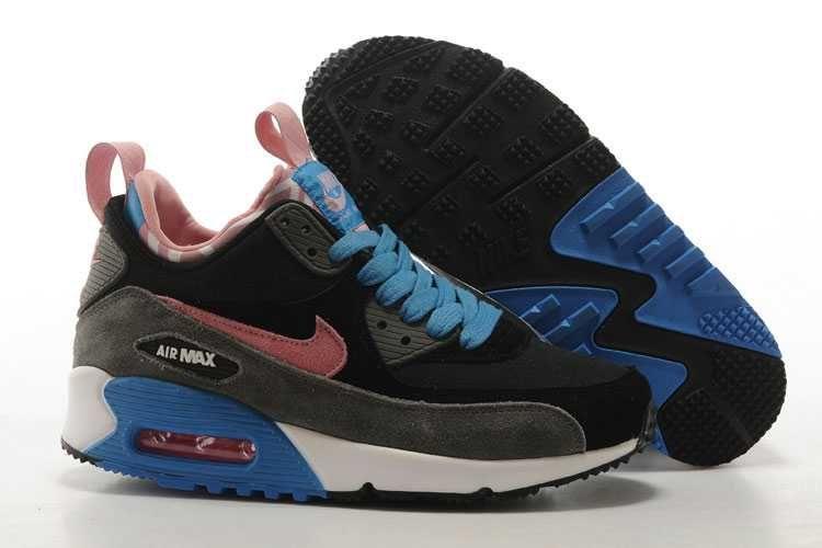buy online 7f11c 706af ... wholesale 1830 nike air max 90 sneakerboot dam deep svart rosa rosa grå  se487140bubyyyswn cf4ee 12efe
