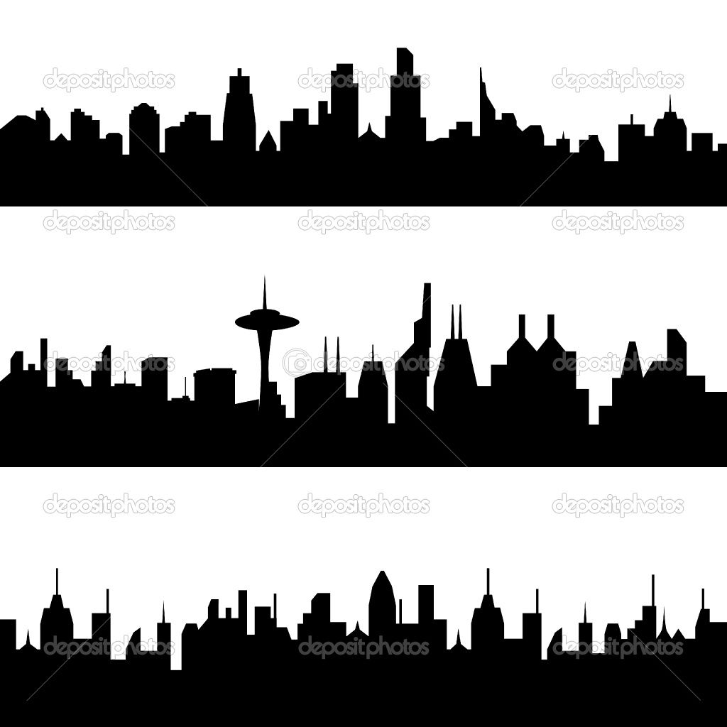 Skyline City Silhouette 24399 Hd Wallpapers
