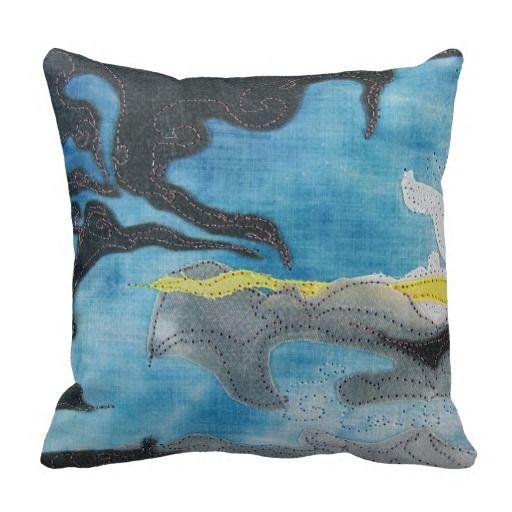 Dark Cloud Nearby pillow 30.35 Pajaritaflora quilt art print