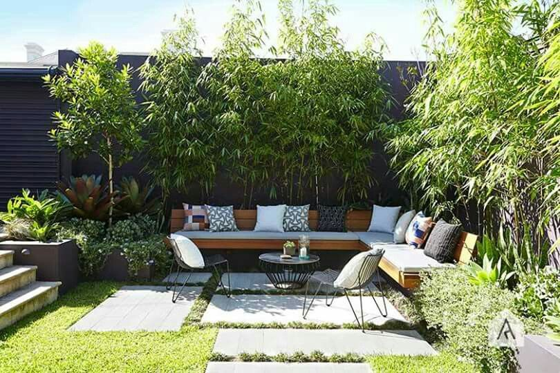 Styling With Large Pavers And Built In Bench © Adam Robinson Design  Sydney Outdoor Design Styling Landscape Design
